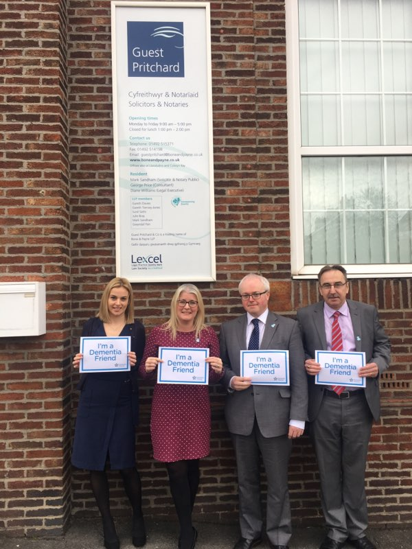 Bone & Payne become Dementia Friends